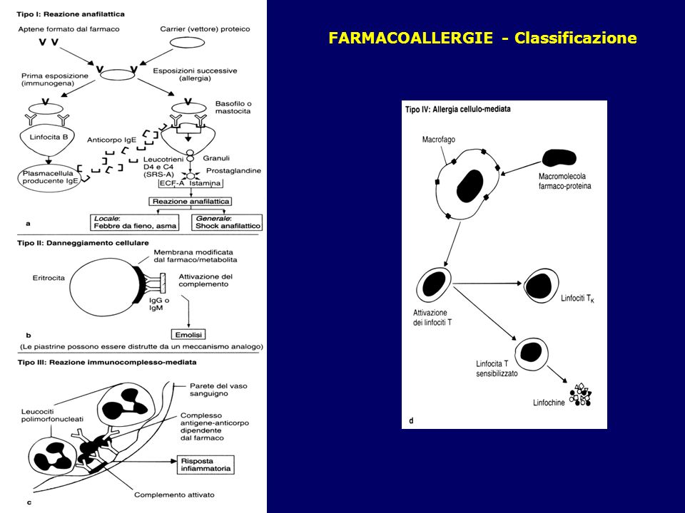 FARMACOALLERGIE - Classificazione