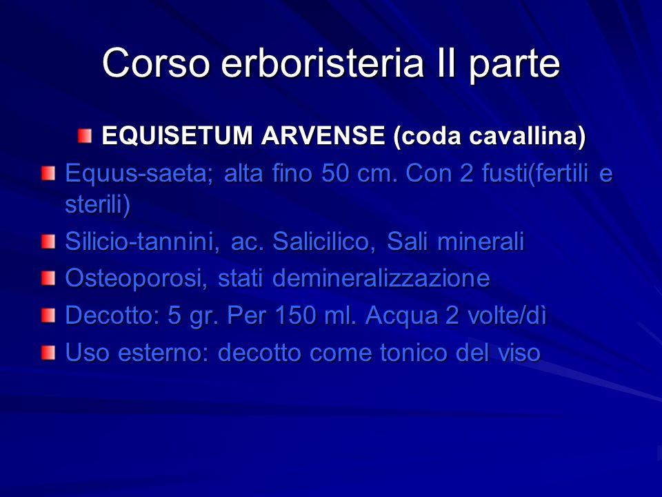 Corso erboristeria II parte