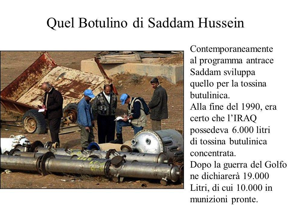 Quel Botulino di Saddam Hussein