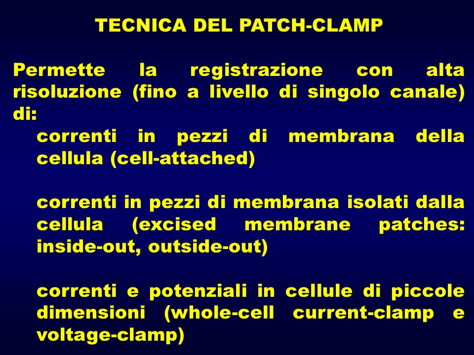 TECNICA DEL PATCH-CLAMP