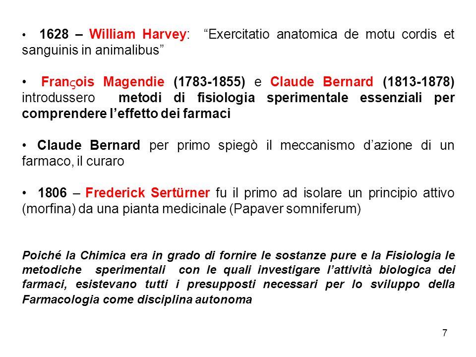 1628 – William Harvey: Exercitatio anatomica de motu cordis et sanguinis in animalibus
