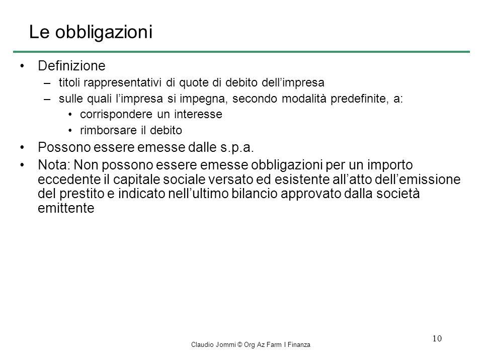 Claudio Jommi © Org Az Farm I Finanza