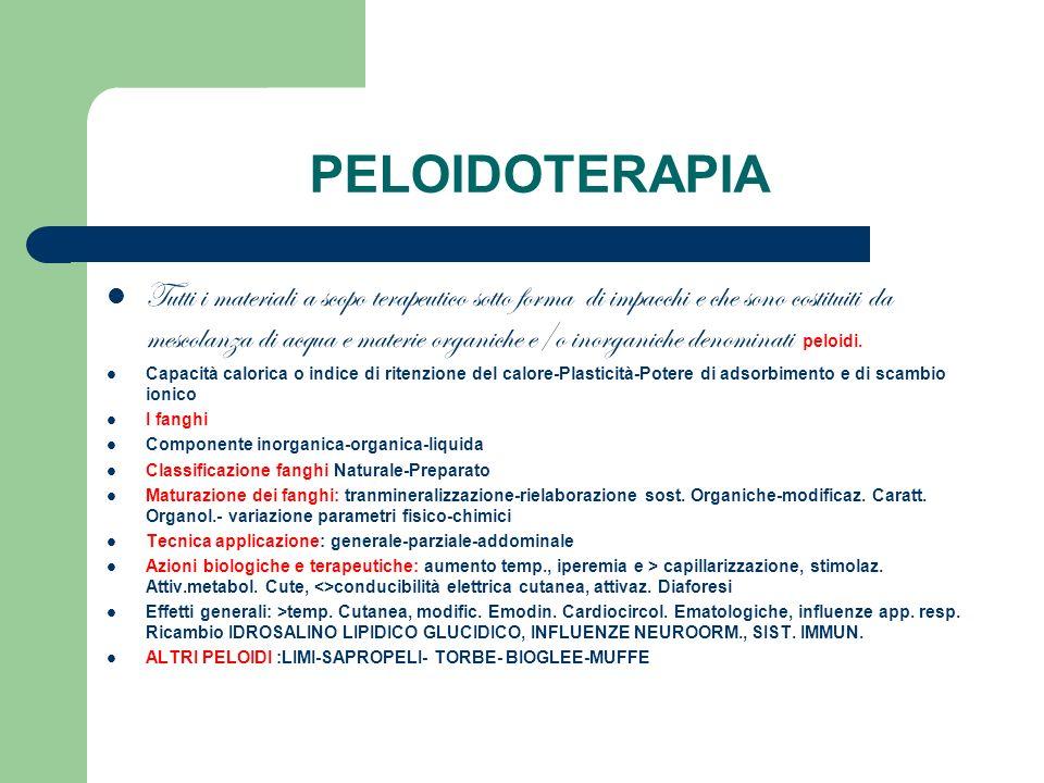 PELOIDOTERAPIA