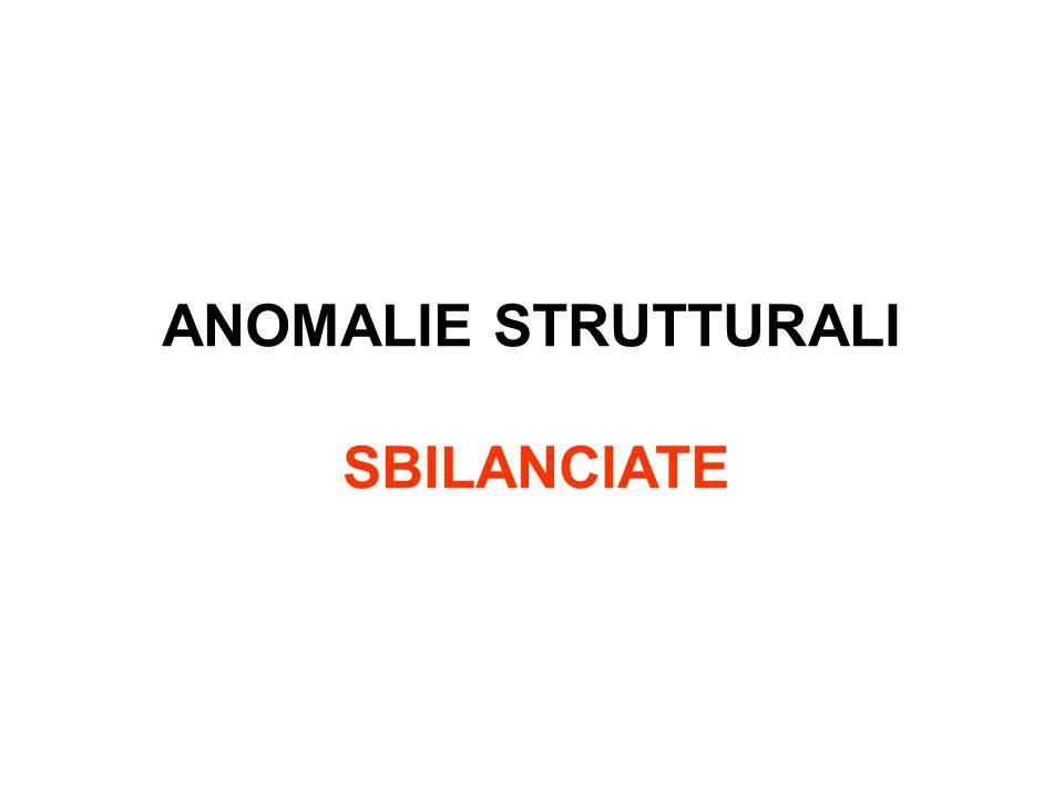 ANOMALIE STRUTTURALI SBILANCIATE