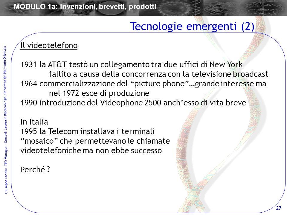 Tecnologie emergenti (2)