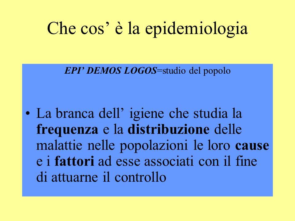 Che cos' è la epidemiologia