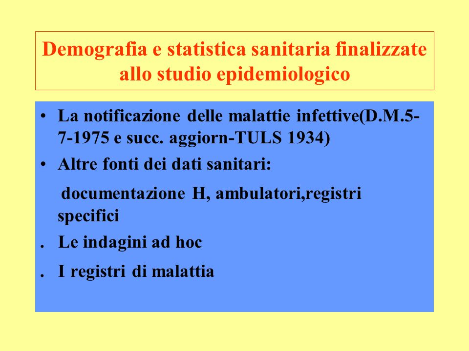 documentazione H, ambulatori,registri specifici