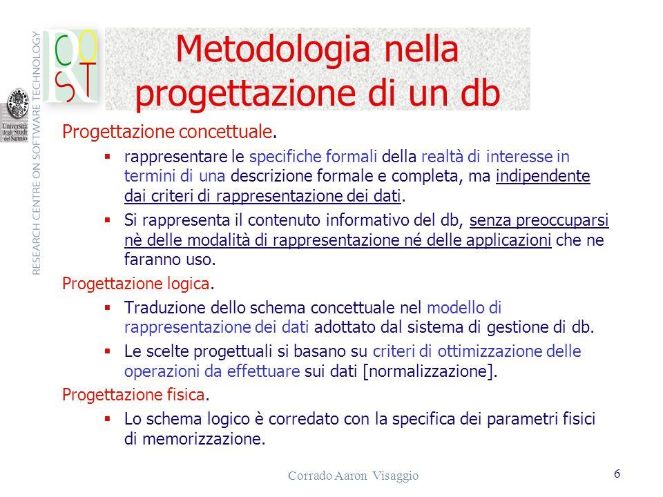 Metodologia nella progettazione di un db