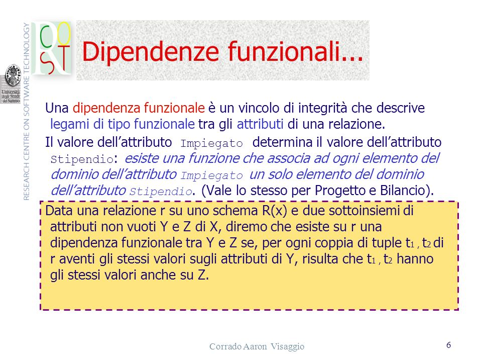 Dipendenze funzionali...