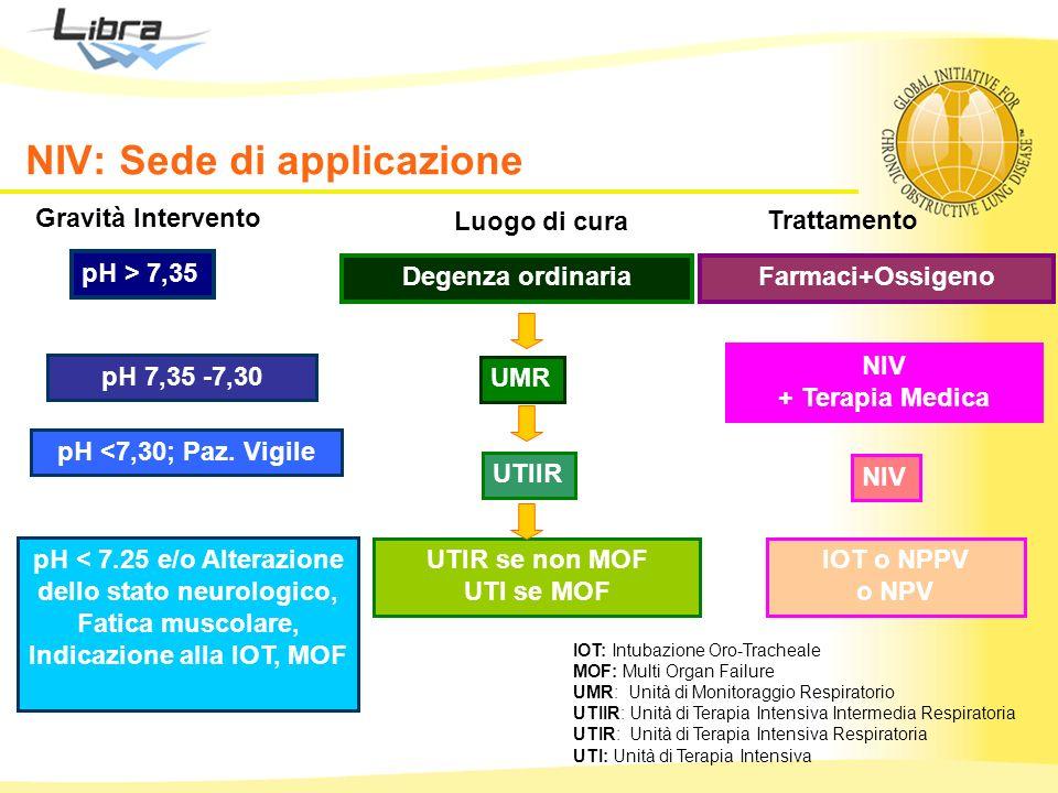 NIV: Sede di applicazione