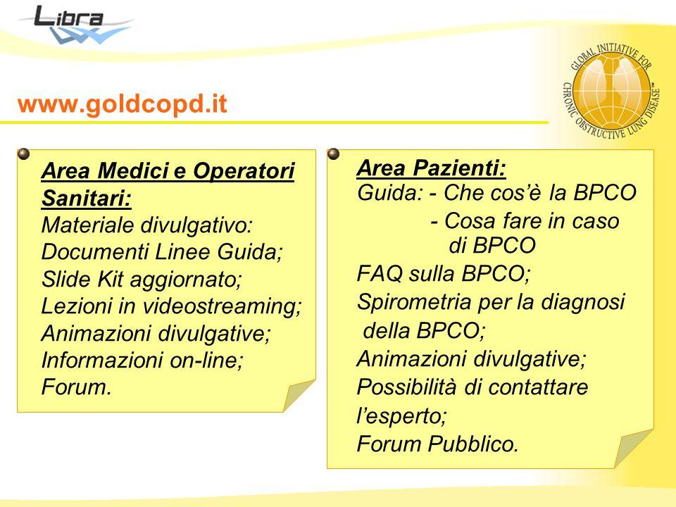 www.goldcopd.it Area Medici e Operatori Sanitari: