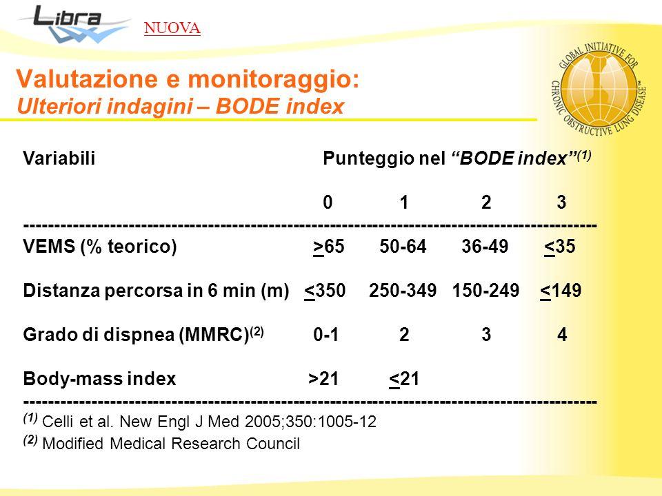Valutazione e monitoraggio: Ulteriori indagini – BODE index