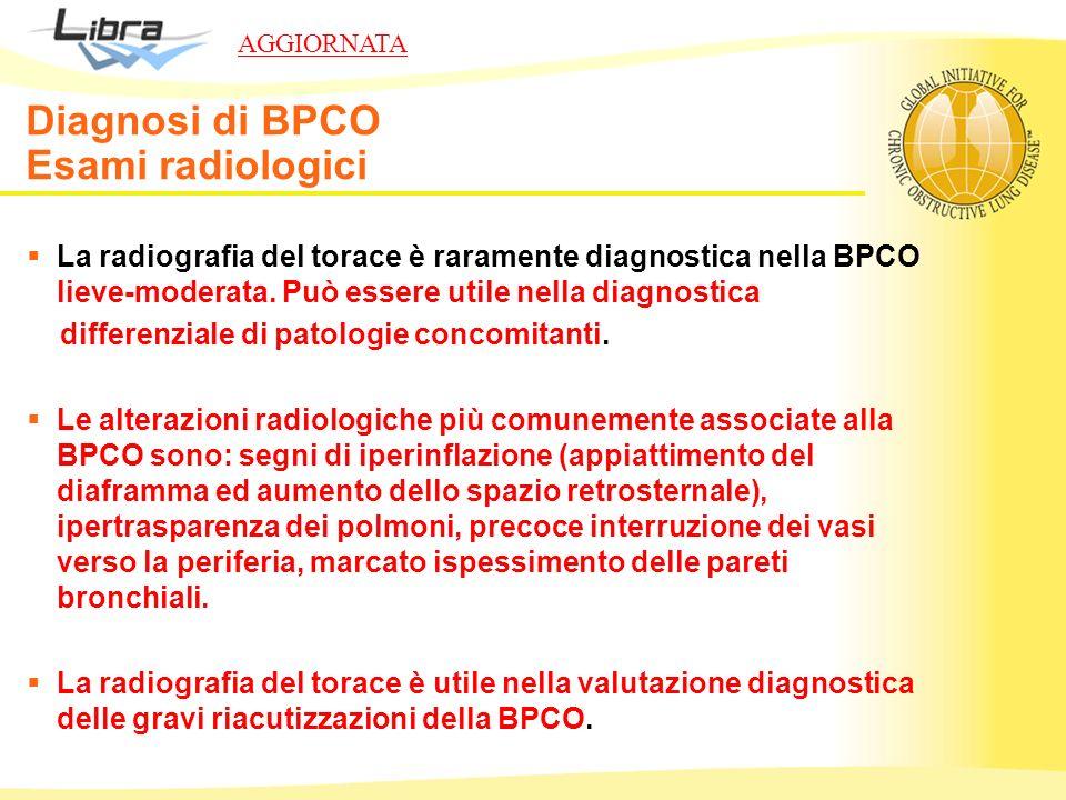 Diagnosi di BPCO Esami radiologici