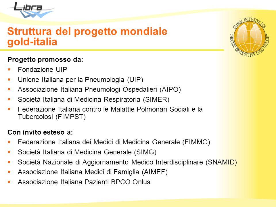 Struttura del progetto mondiale gold-italia