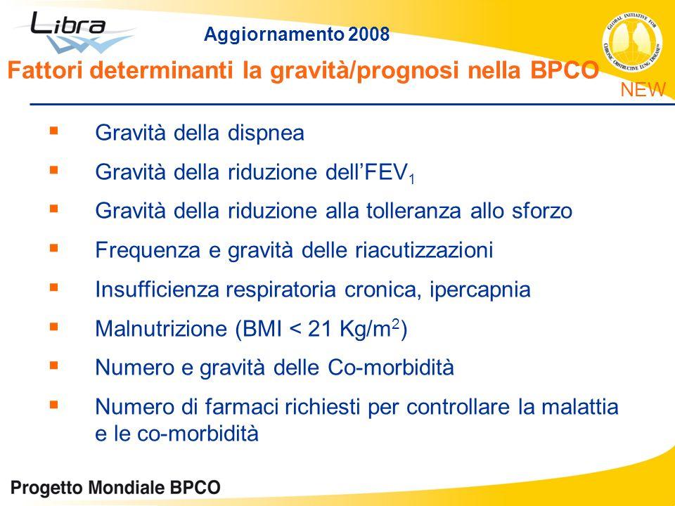 Fattori determinanti la gravità/prognosi nella BPCO