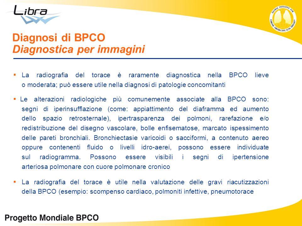 Diagnosi di BPCO Diagnostica per immagini