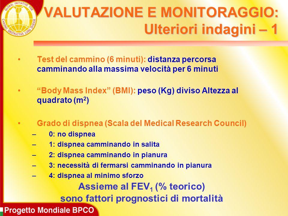VALUTAZIONE E MONITORAGGIO: Ulteriori indagini – 1