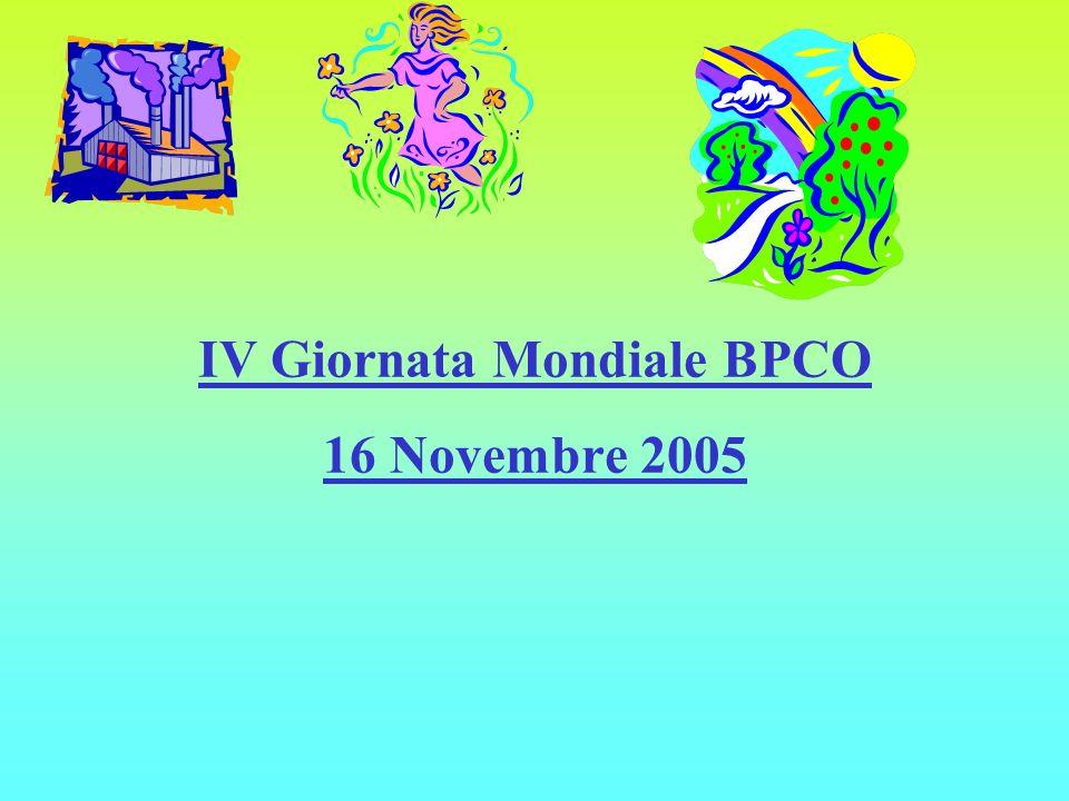 IV Giornata Mondiale BPCO 16 Novembre 2005
