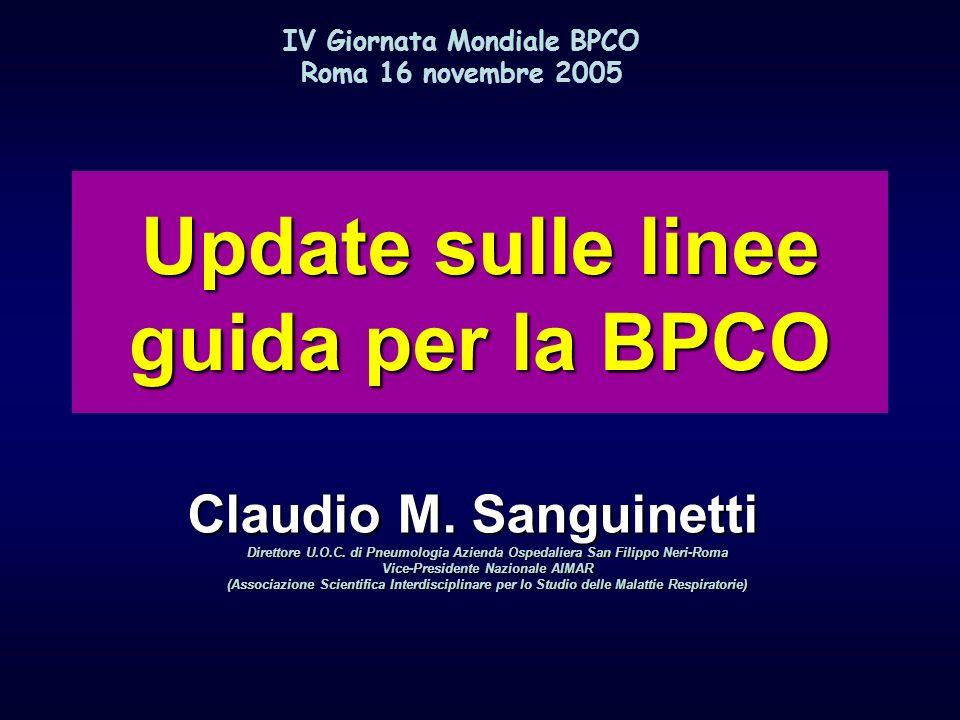 Update sulle linee guida per la BPCO