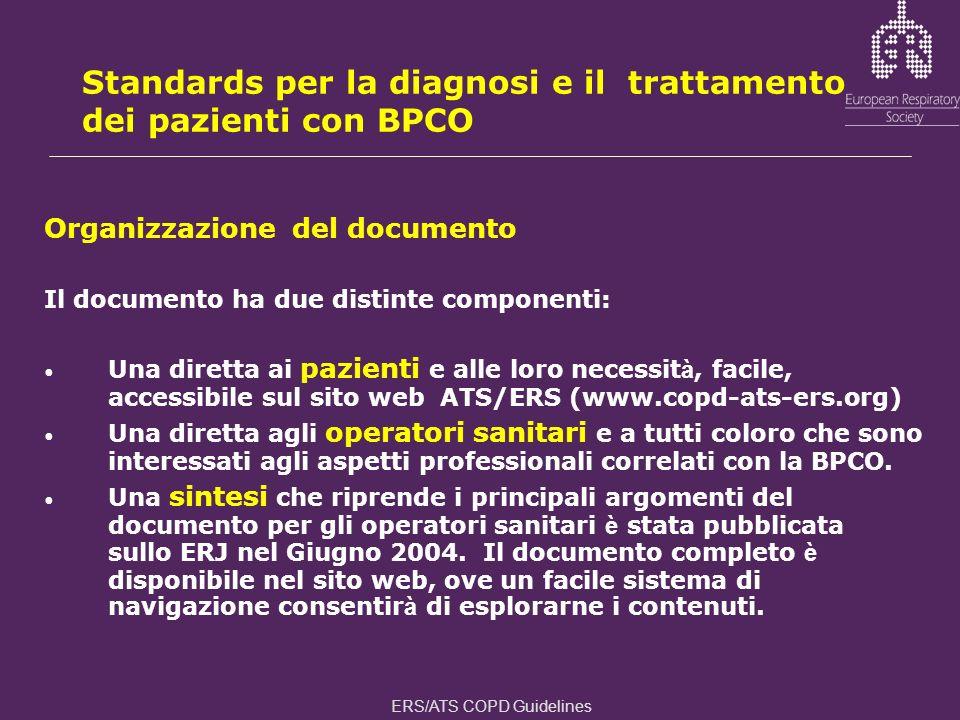 Standards per la diagnosi e il trattamento dei pazienti con BPCO