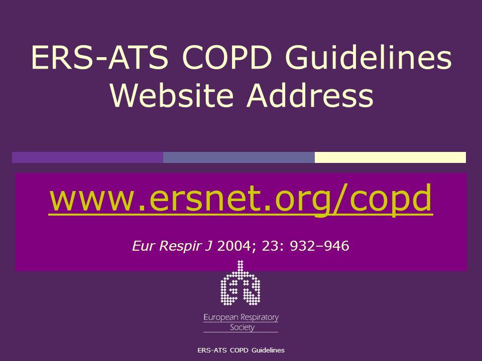 www.ersnet.org/copd Eur Respir J 2004; 23: 932–946