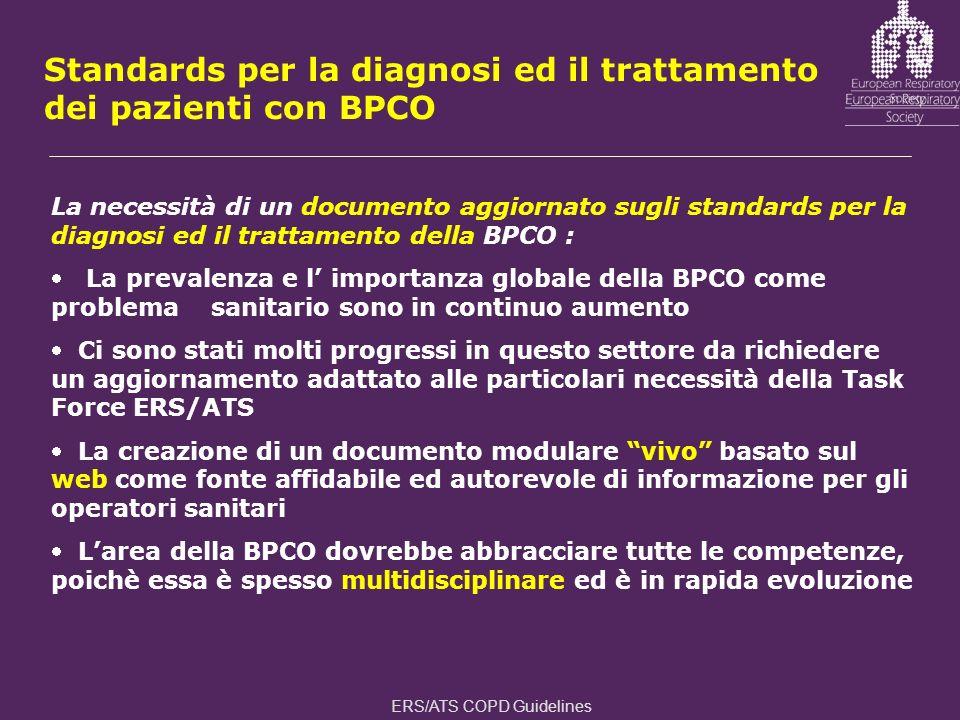Standards per la diagnosi ed il trattamento dei pazienti con BPCO