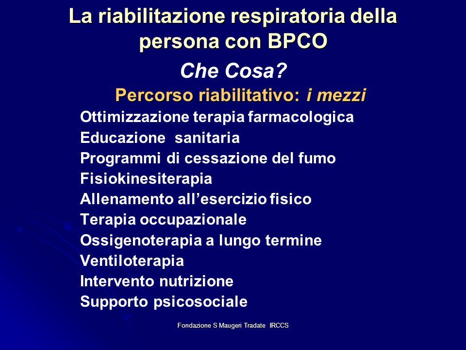 La riabilitazione respiratoria della persona con BPCO Che Cosa
