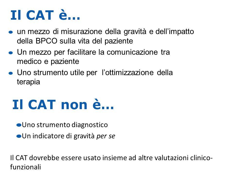 Il CAT è…un mezzo di misurazione della gravità e dell'impatto della BPCO sulla vita del paziente.