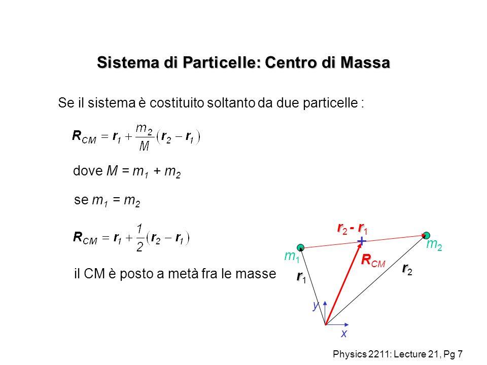 Sistema di Particelle: Centro di Massa