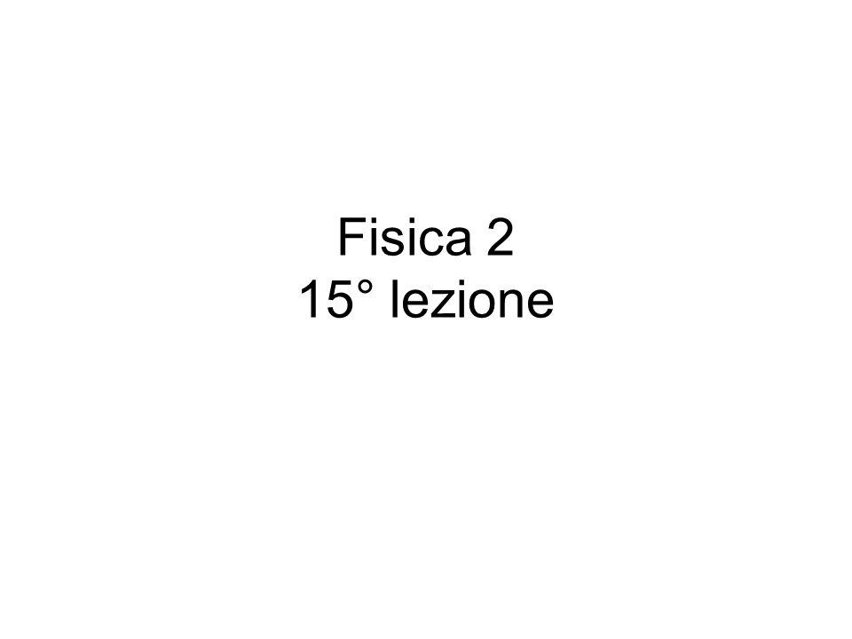 Fisica 2 15° lezione