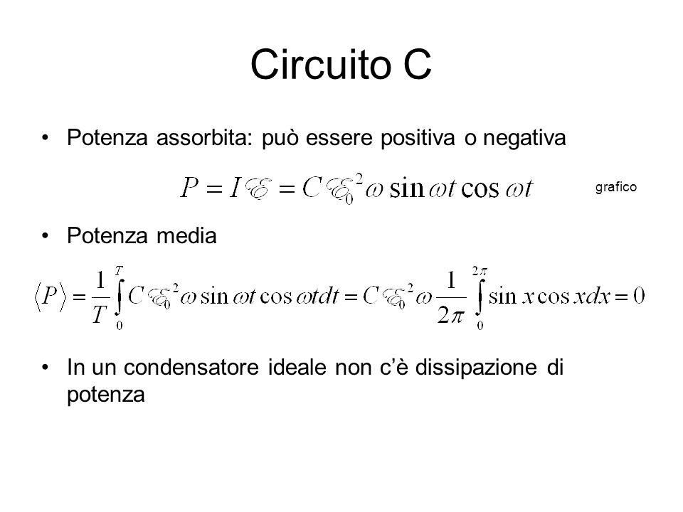 Circuito C Potenza assorbita: può essere positiva o negativa