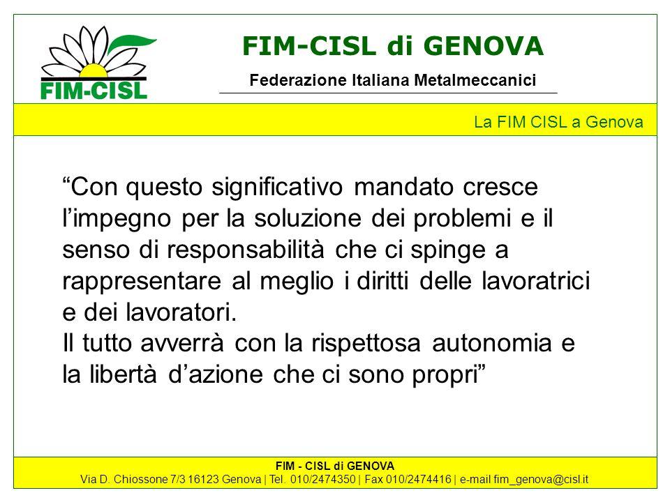 La FIM CISL a Genova