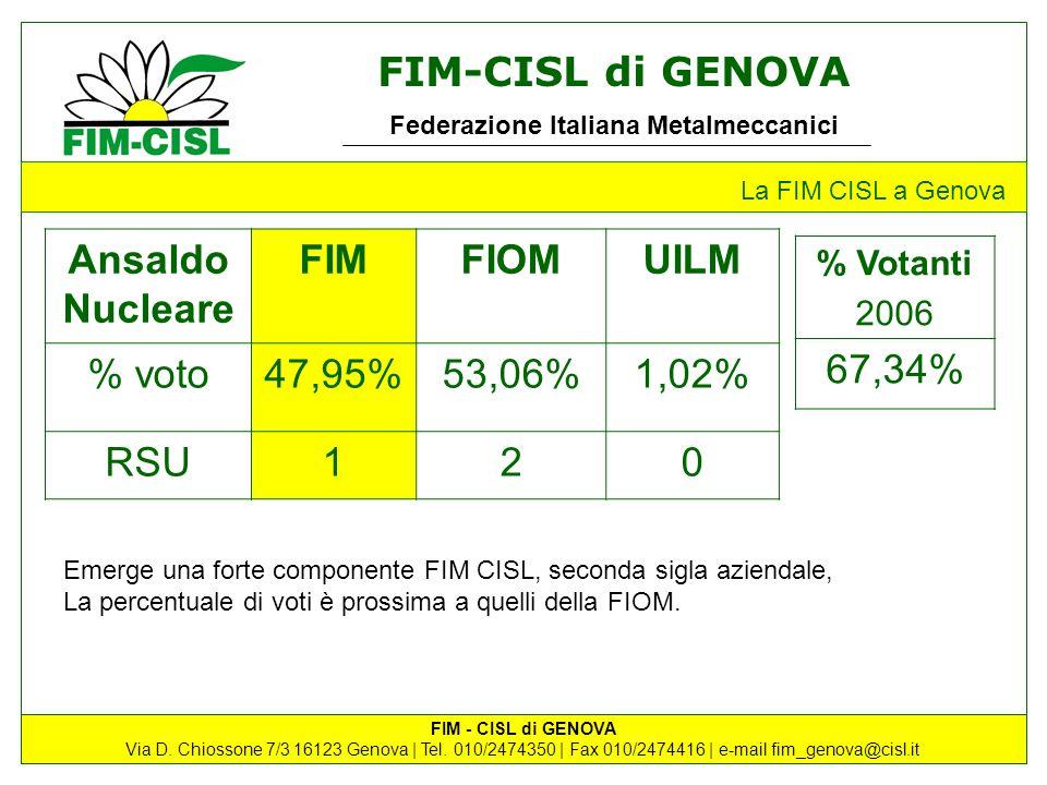 Ansaldo Nucleare FIM FIOM UILM