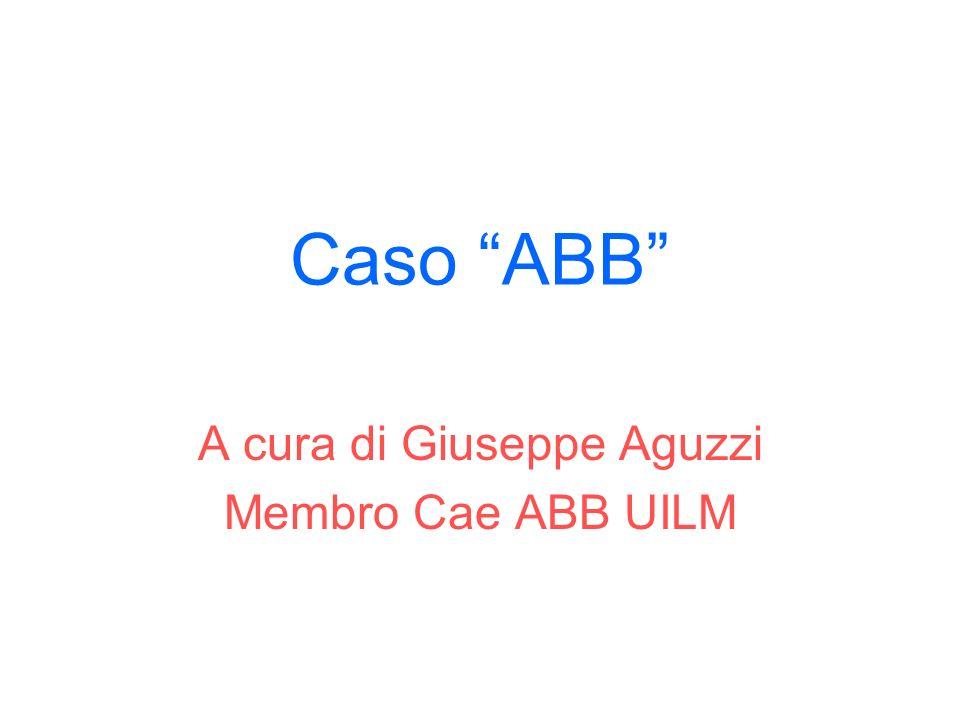 A cura di Giuseppe Aguzzi Membro Cae ABB UILM