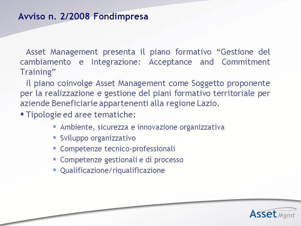 Avviso n. 2/2008 Fondimpresa