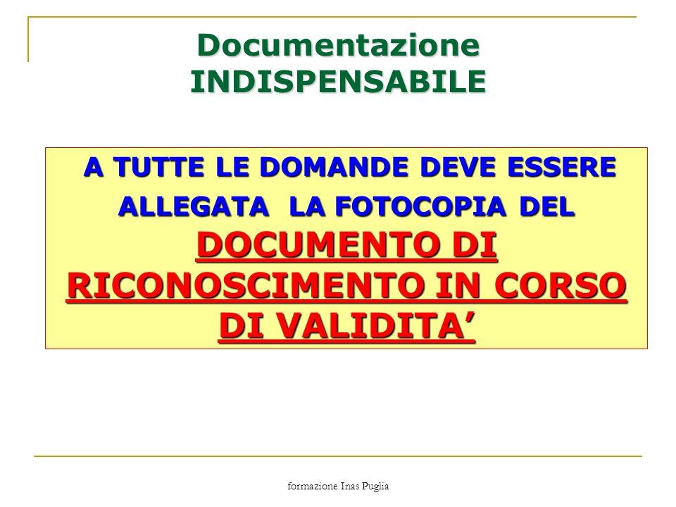 Documentazione INDISPENSABILE
