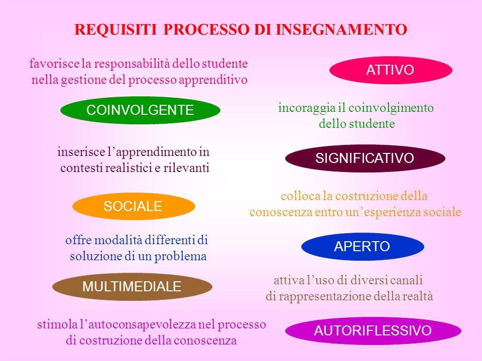 REQUISITI PROCESSO DI INSEGNAMENTO