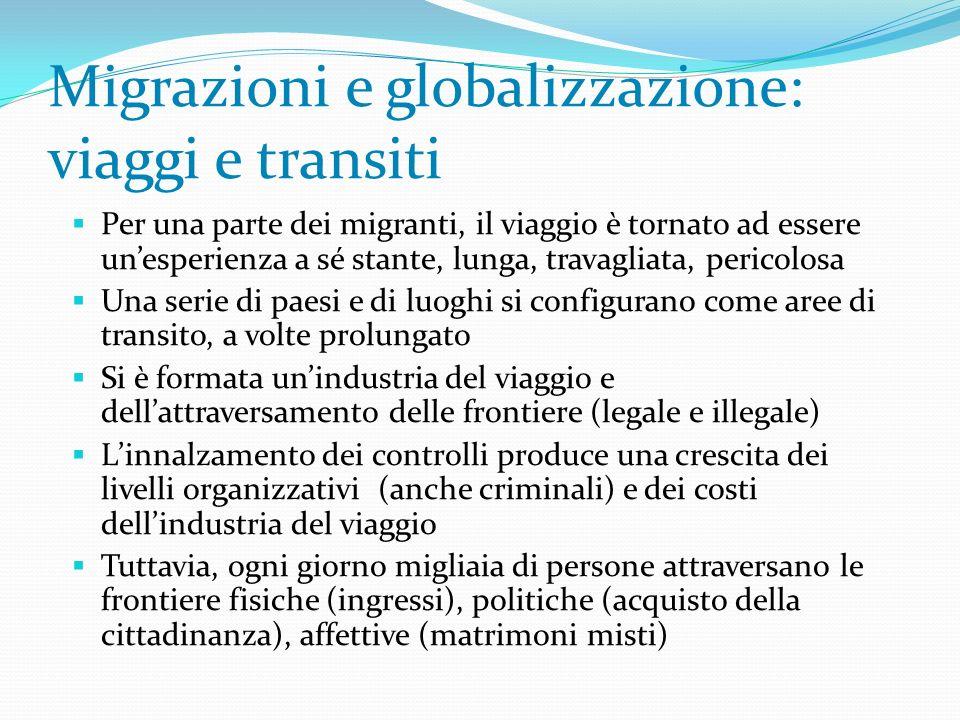 Migrazioni e globalizzazione: viaggi e transiti