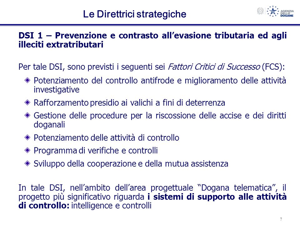 Le Direttrici strategiche