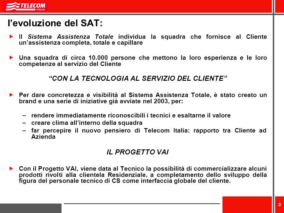 CON LA TECNOLOGIA AL SERVIZIO DEL CLIENTE