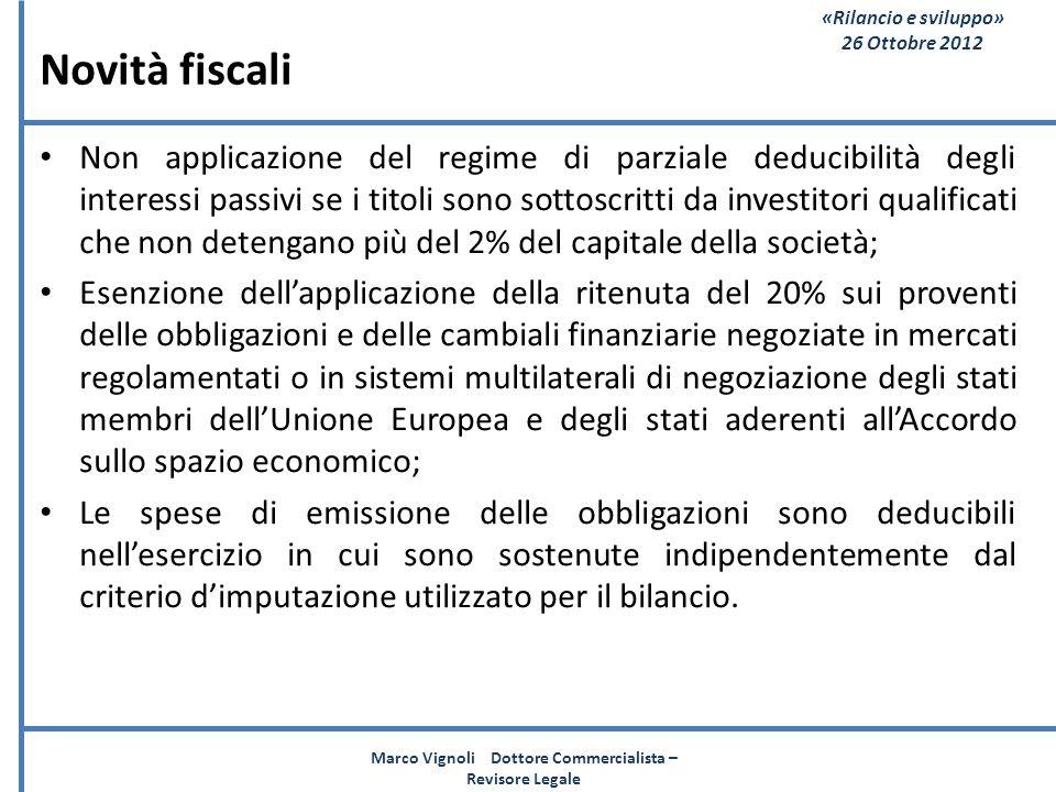 Marco Vignoli Dottore Commercialista – Revisore Legale