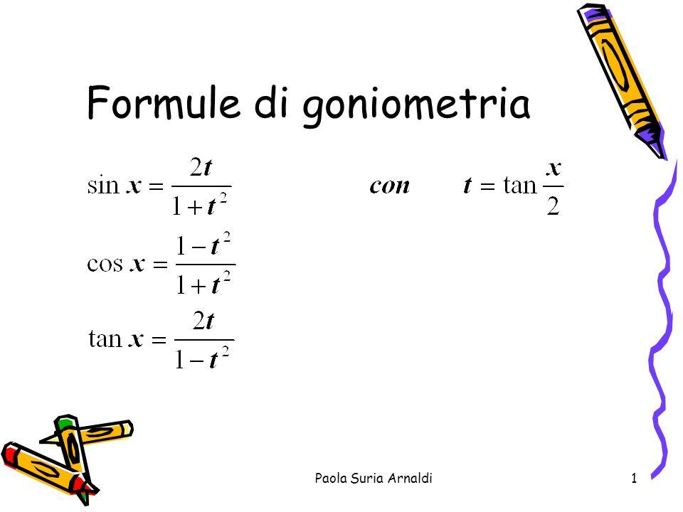Formule di goniometria