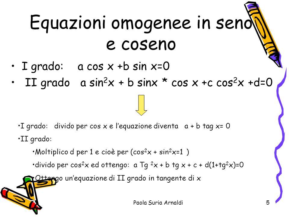 Equazioni omogenee in seno e coseno