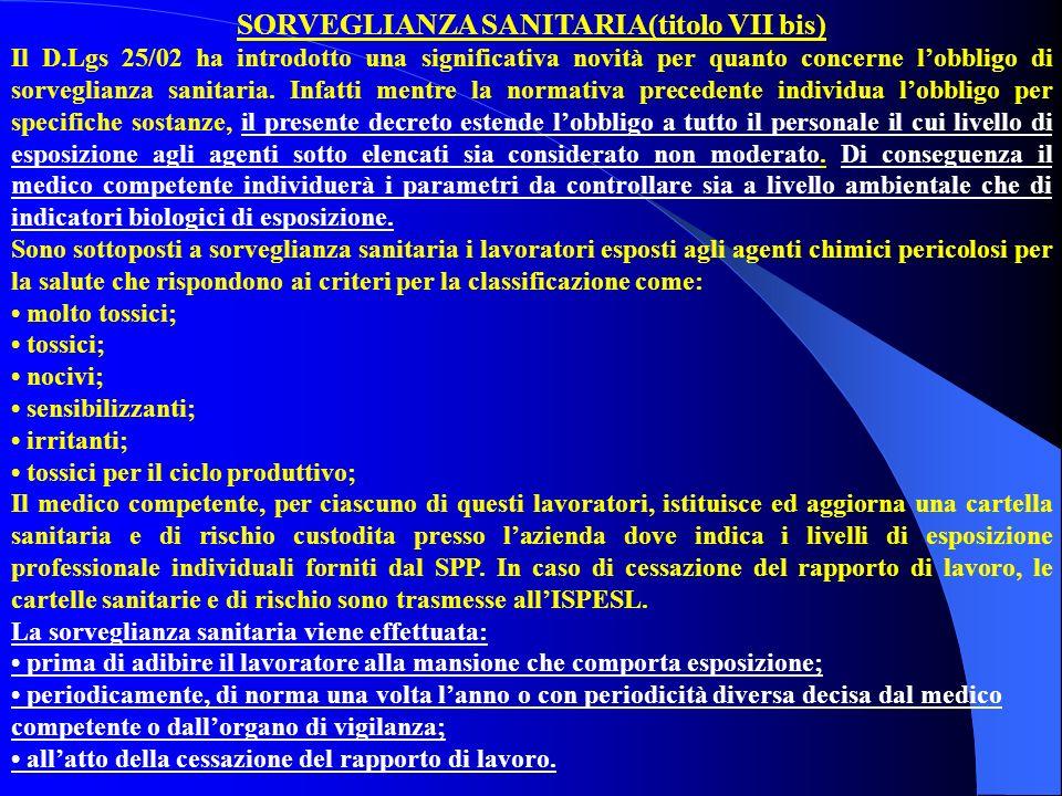 SORVEGLIANZA SANITARIA(titolo VII bis)