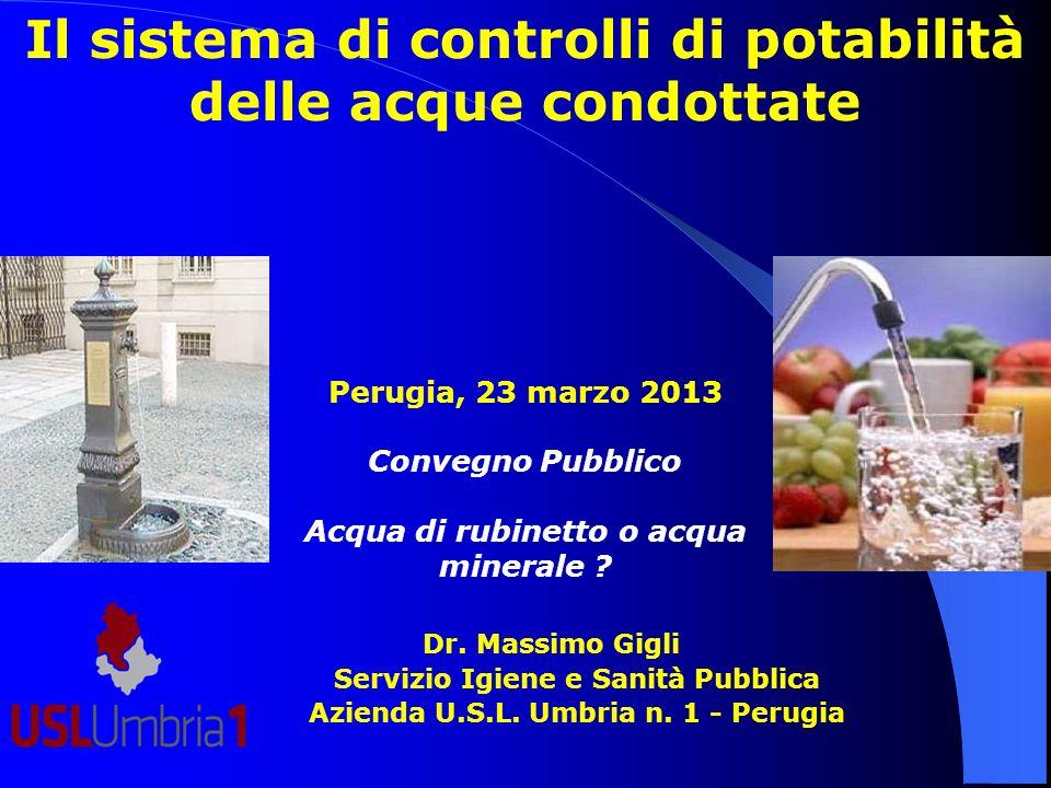 Il sistema di controlli di potabilità delle acque condottate