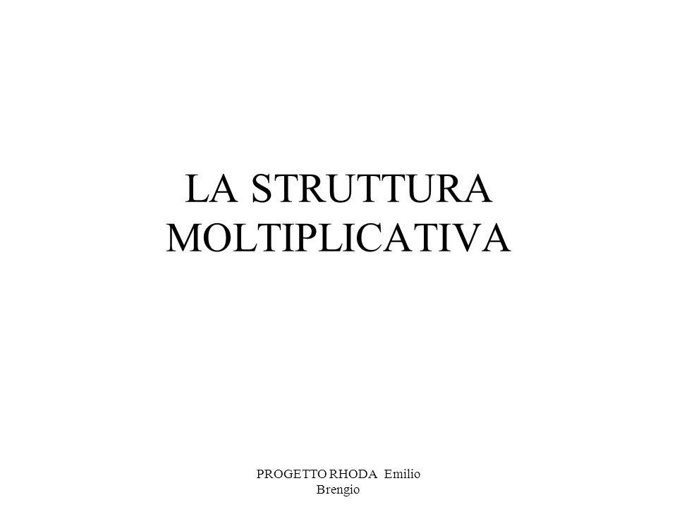 LA STRUTTURA MOLTIPLICATIVA