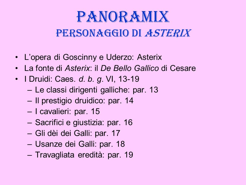 Panoramix personaggio di Asterix
