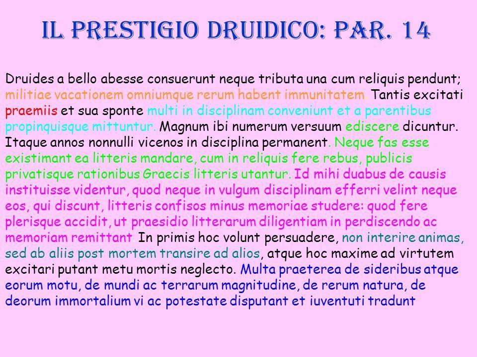 Il prestigio druidico: par. 14