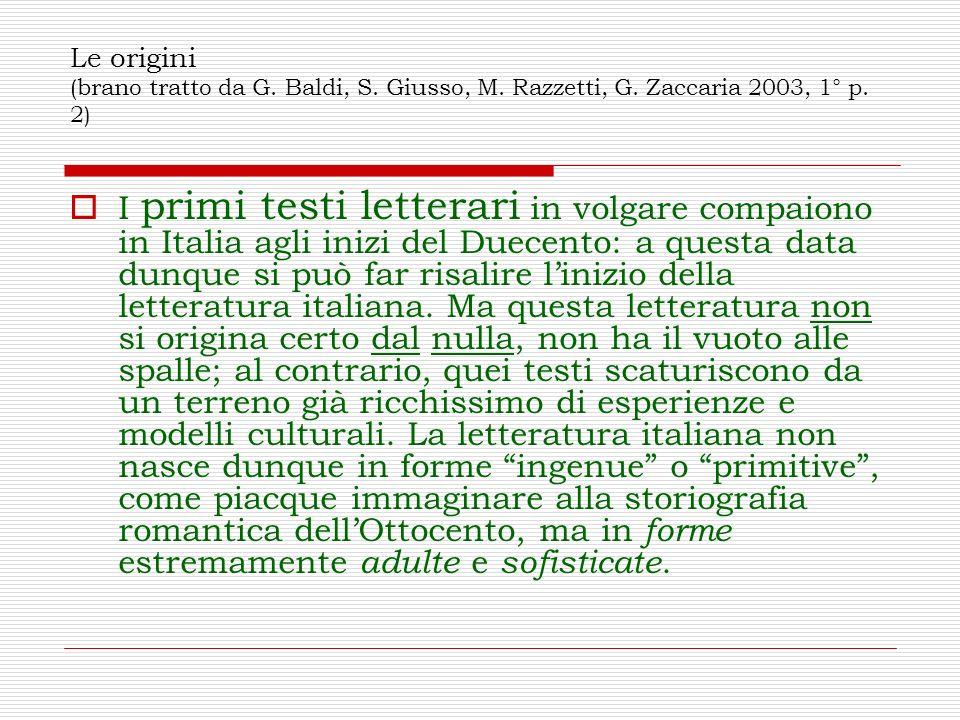 Le origini (brano tratto da G. Baldi, S. Giusso, M. Razzetti, G