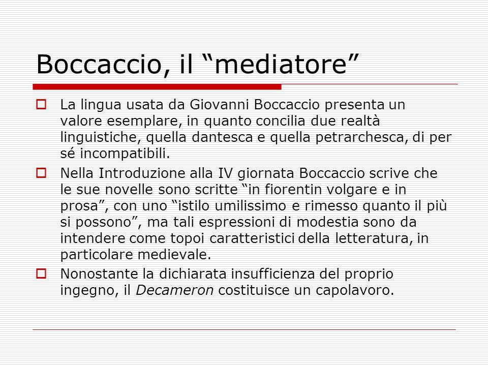 Boccaccio, il mediatore